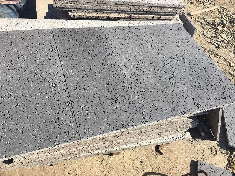 Black paving stone