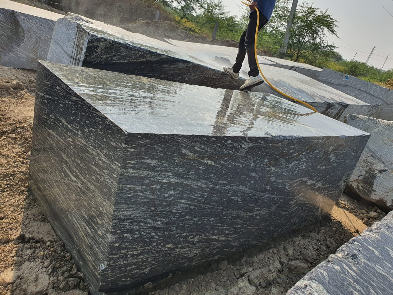 Black Marquina Marble Blocks