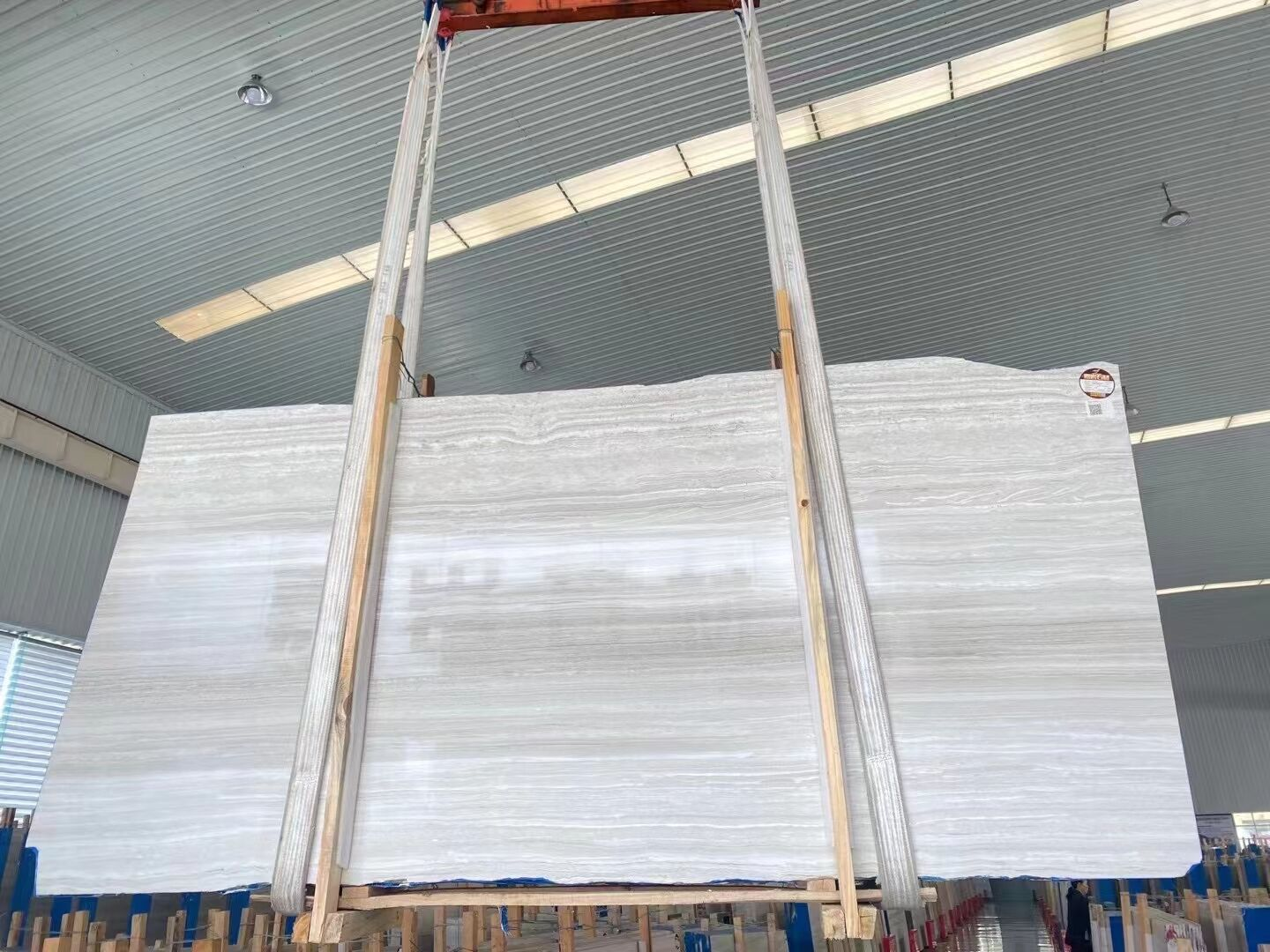 Wooden white marble  big slabs Ready to ship