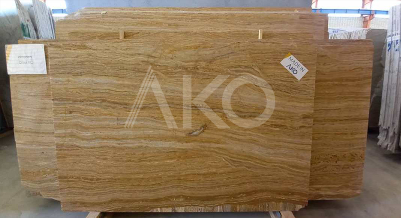 Wooden Travertine Slab