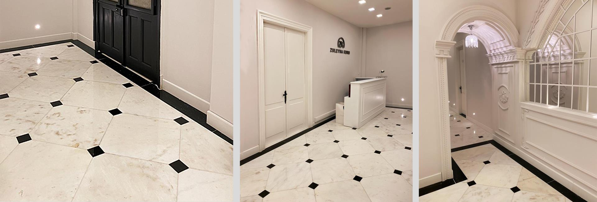 Afyon White Marble A La Vogue Tile
