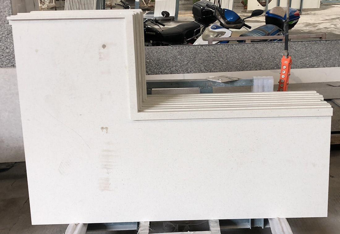 Pure White Quartz slabs Kitchen Countertops  Bathroom Vanity Tops