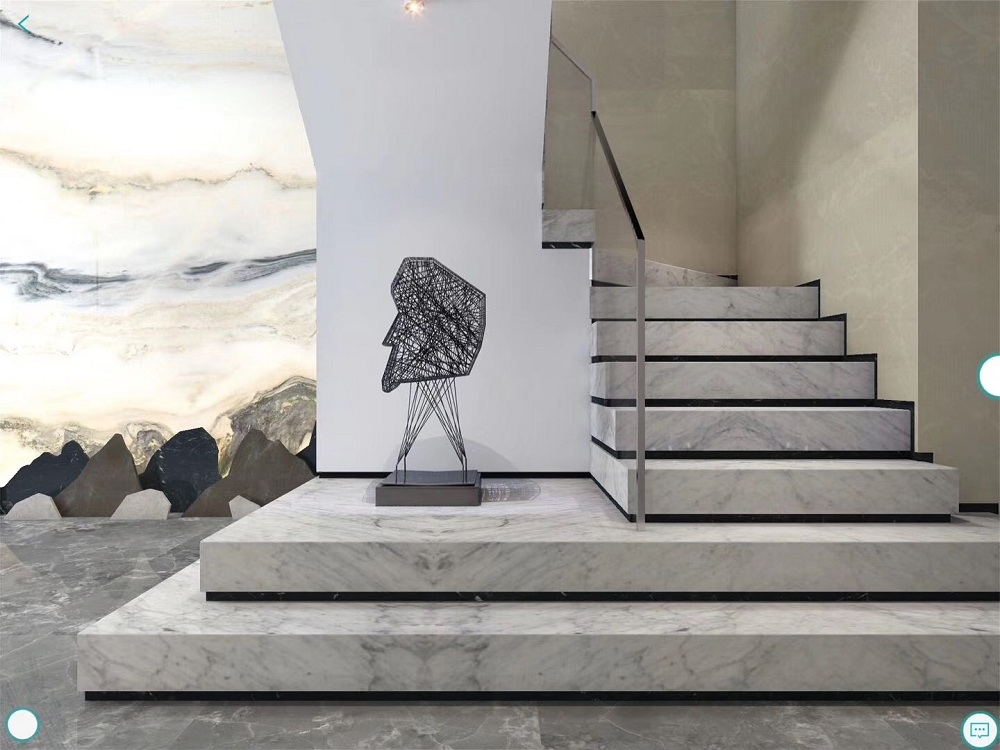 Carrara white stair board