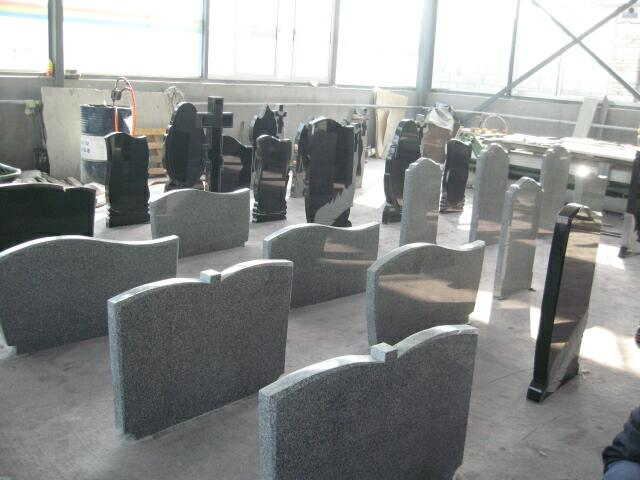 European style tombstone