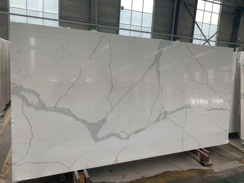 Quartz Slab Statuario White Quartz Slab China Quartz Slab Quartz Stone