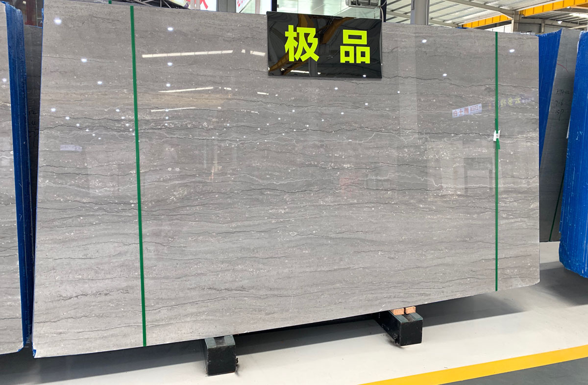 Chinese Cartier Grey Marble Polished Slabs