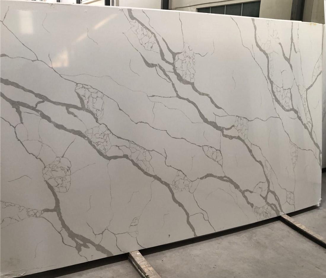 Calacatta White Quartz slabs