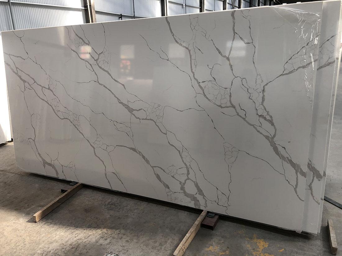 Calacatta White Quartz slabs Kitchen Countertops  Bathroom Vanity Tops