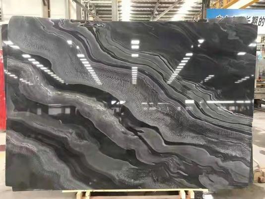 CHINESE BLACK WAVE MARBLE SLAB
