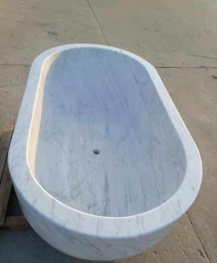 BATHTUB WHITE CARRARA WHITE MARBLE