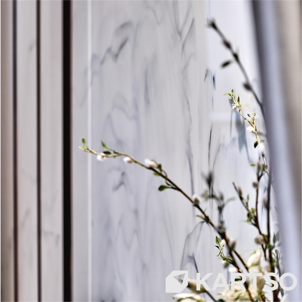 Kartso Cheap Price Cloud White Crystallized Glass Stone Nano Granite Slabs