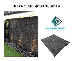 Black Wall Panel 10 Lines