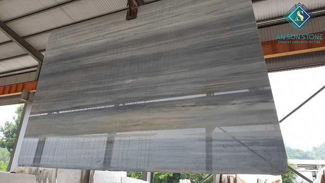 Polished Black Marble Slab