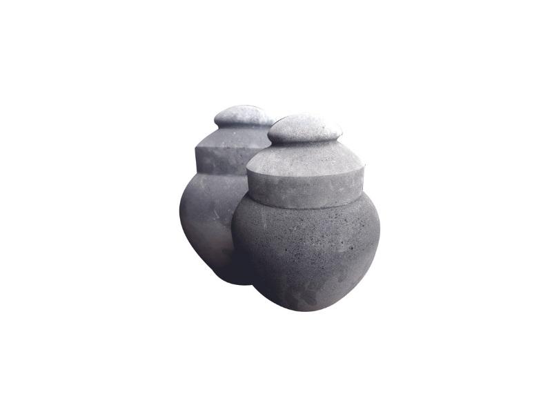 Black Lava Stone Memorial Urns Cremation Urn Ash