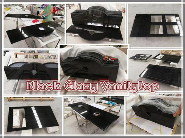 Black galaxy vanity top