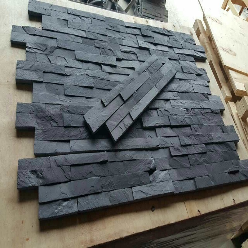 Black slate culture slate wall tiles