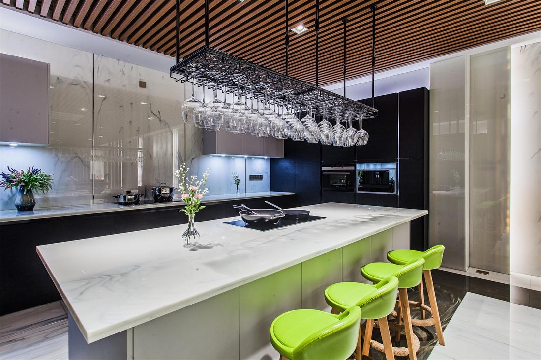 Glass Stone Slabs Calacatta Big Slab for Kitchen Countertop