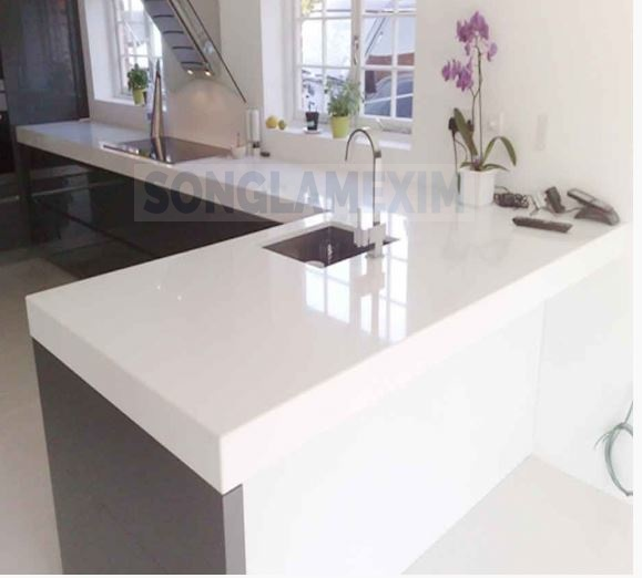 Vietnam White Marble Slab for Countertop