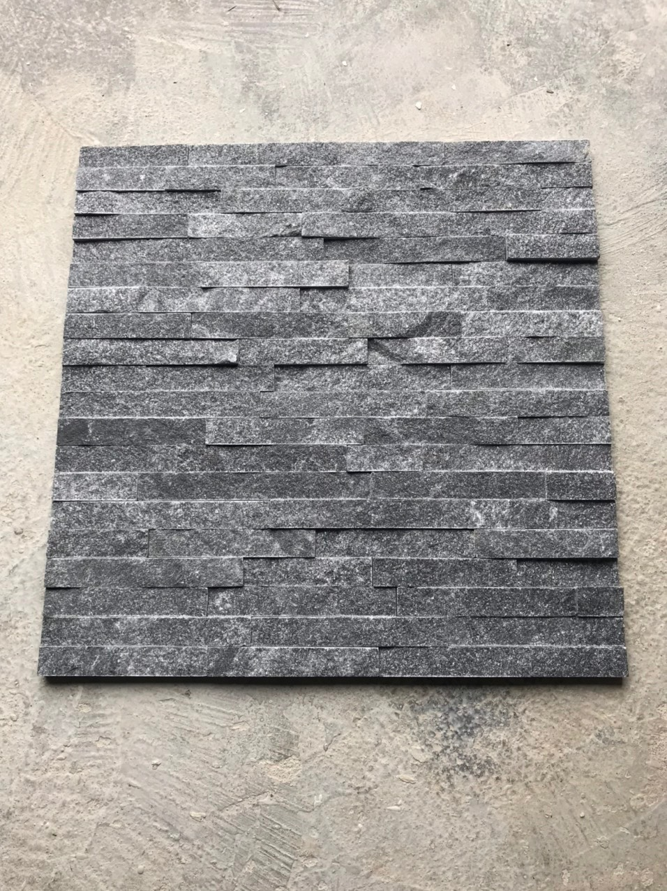 Black Crystal Marble Stacked Stone