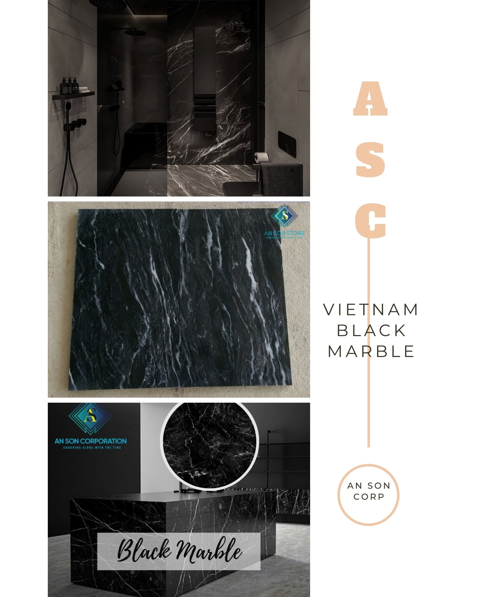 BLACK MARBLE FOR COUNTERTOP