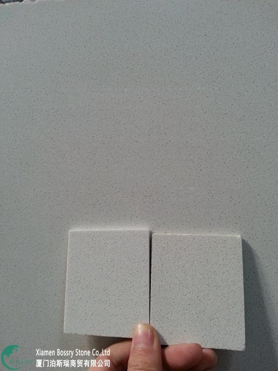 White artificial quartz Slab