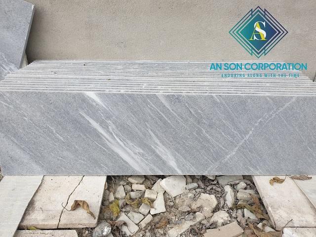 Beautiful Grey Sandblasted Marble Tile