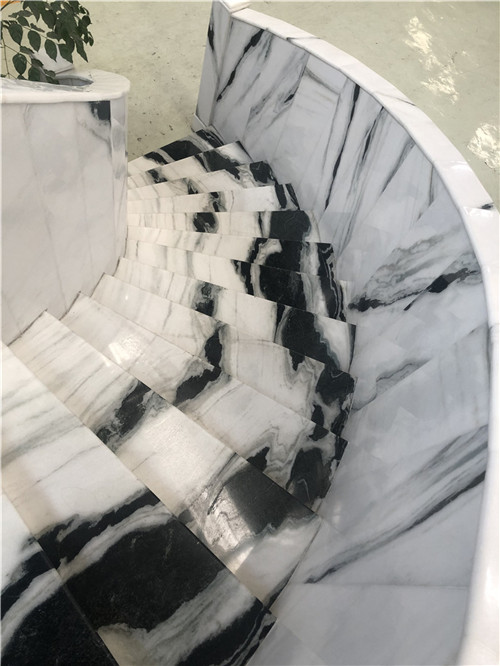 China Panda White Black Marble
