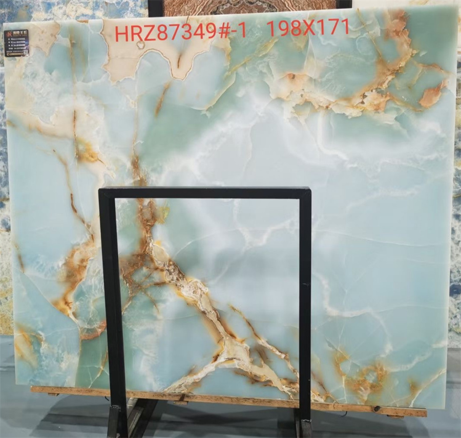 White Onyx With Blue Vien