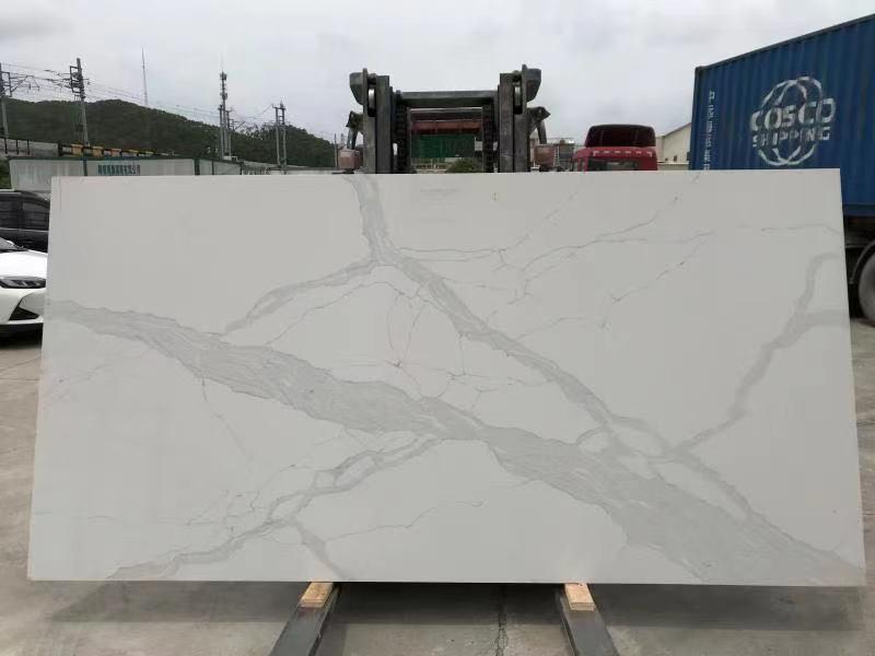 BX-2 carattaca white quartz slab
