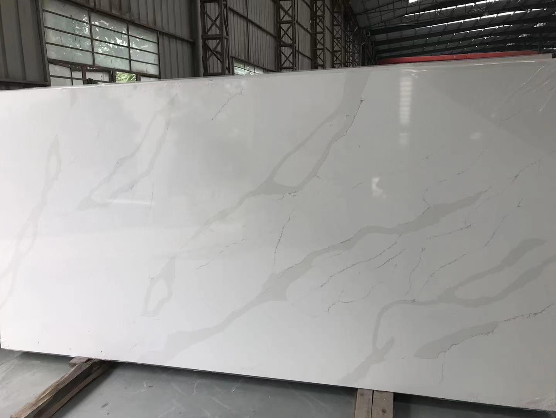 BX-4  carattaca white quartz slab