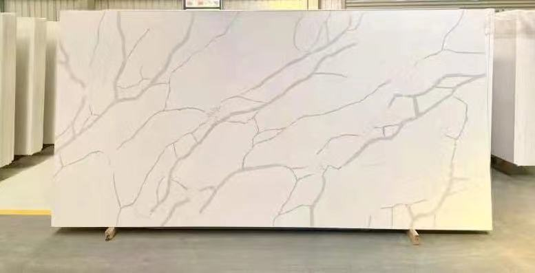 BX-6 carattaca white quartz slab