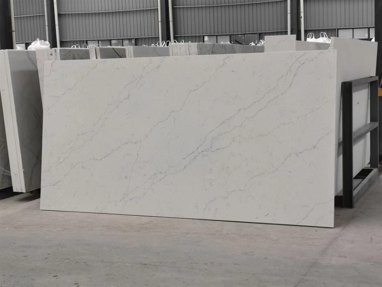 BX-7 carattaca white quartz slab