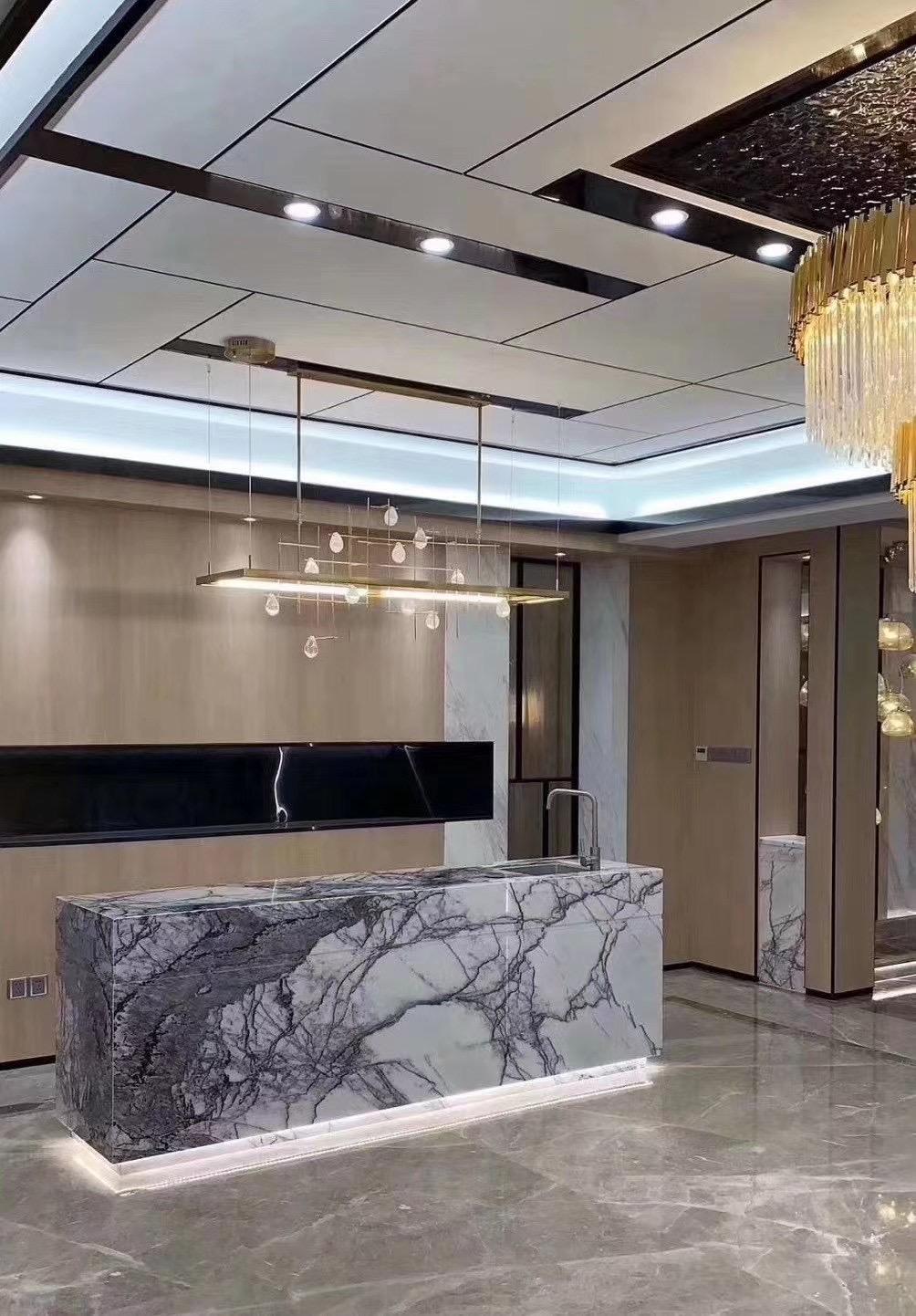 Incense Plum Marble Turkey Milas Lilac Marble Countertops Floor