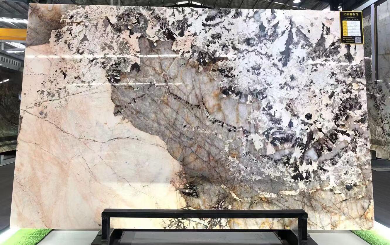 Tudra  Natural Quartz For Wall Background Slab