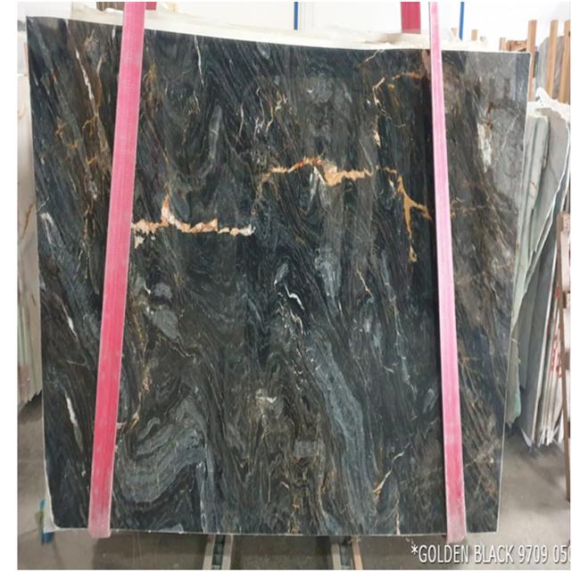Nero Portoro Marble Slab