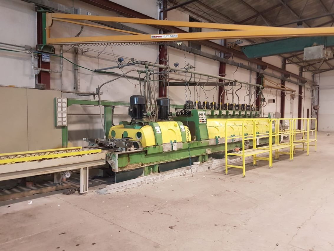 Polishing machines and lines for granite and marbl