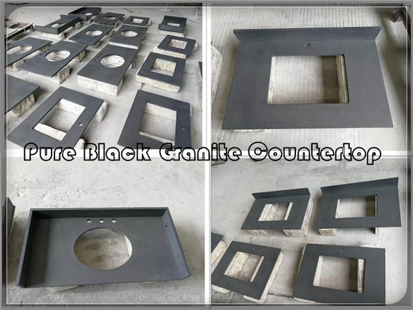 Pure black countertop