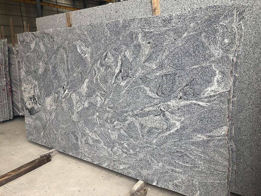 River Grey granite slabs