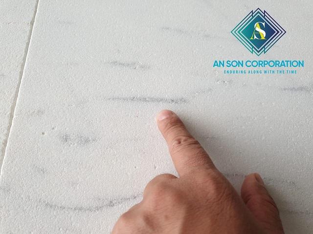 Sandblasted Carrara Marble