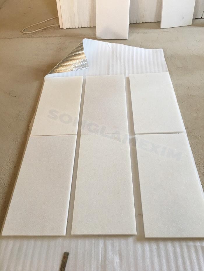 White Marble Sandblasted