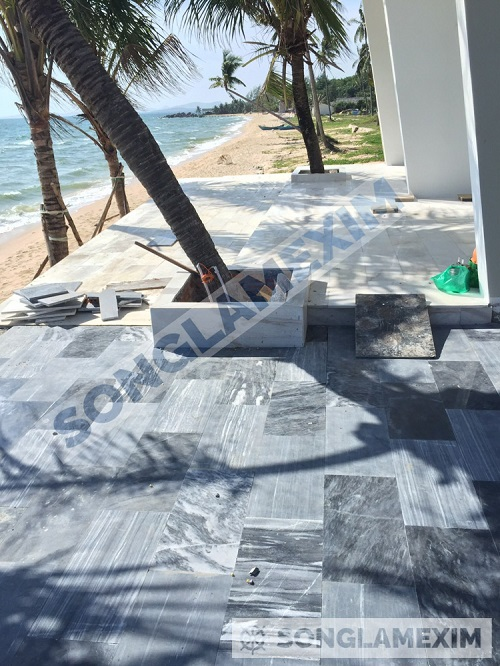 Blue Crystal Marble Paver