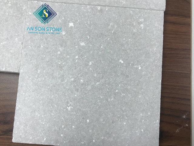 White Sandblasted Marble