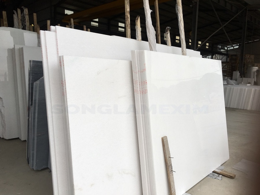Vietnam Pure White Marble Slab