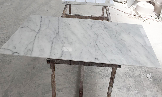 White Marble Square Table Top