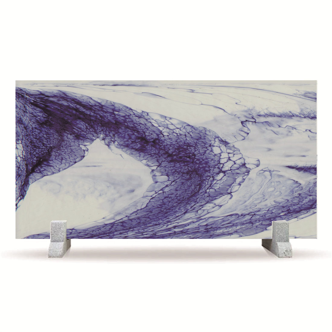 Dark bule and white Porcelain Nano Crystallized Glass Stone marble For table top or background