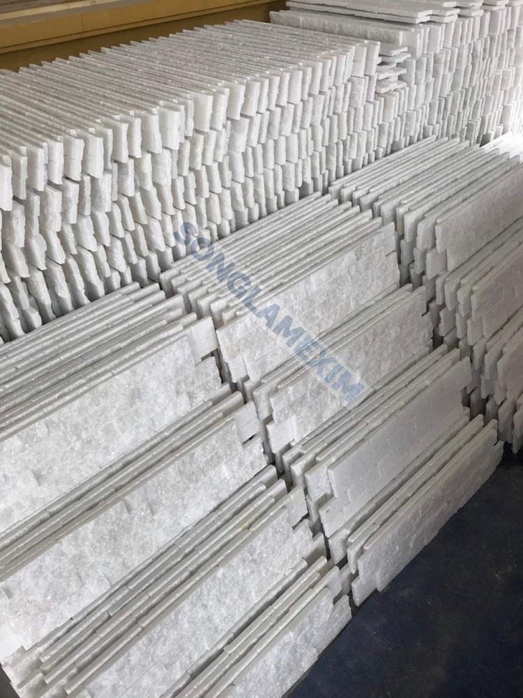 White Stacked Stone Marble