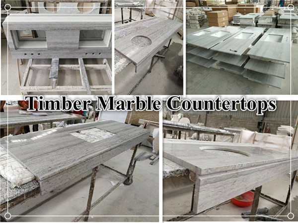 Timber marble countertop
