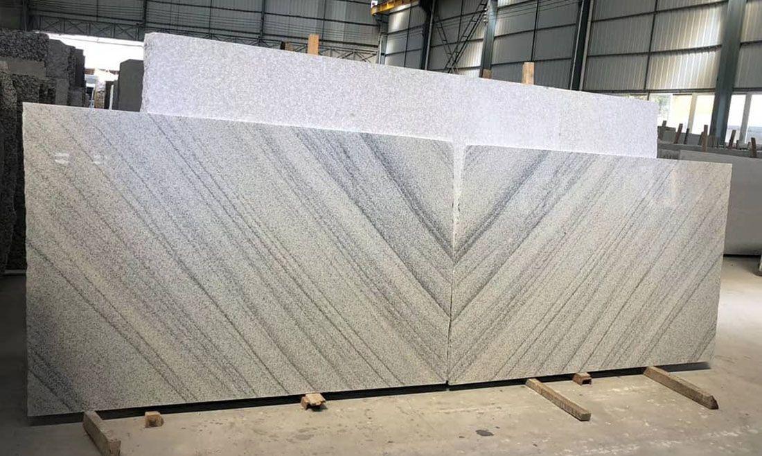 Viscont White granite slabs