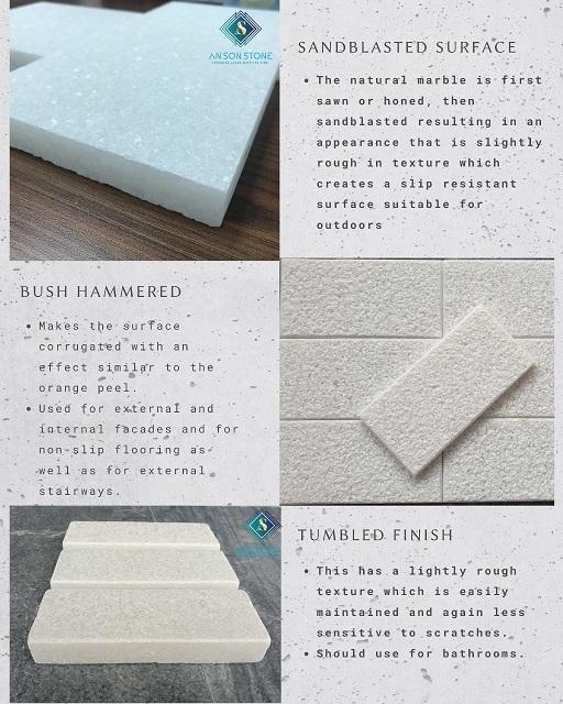 Pure Sandblasted Marble