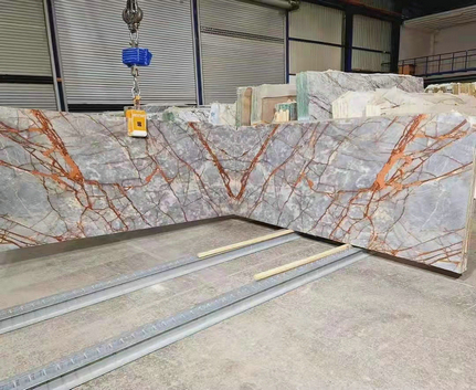 CHINESE MARBLE SLAB PINK GOLD